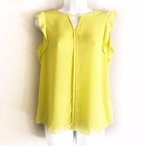 SALE 🎉 Neon Sleeveless Blouse Yellow Blouse